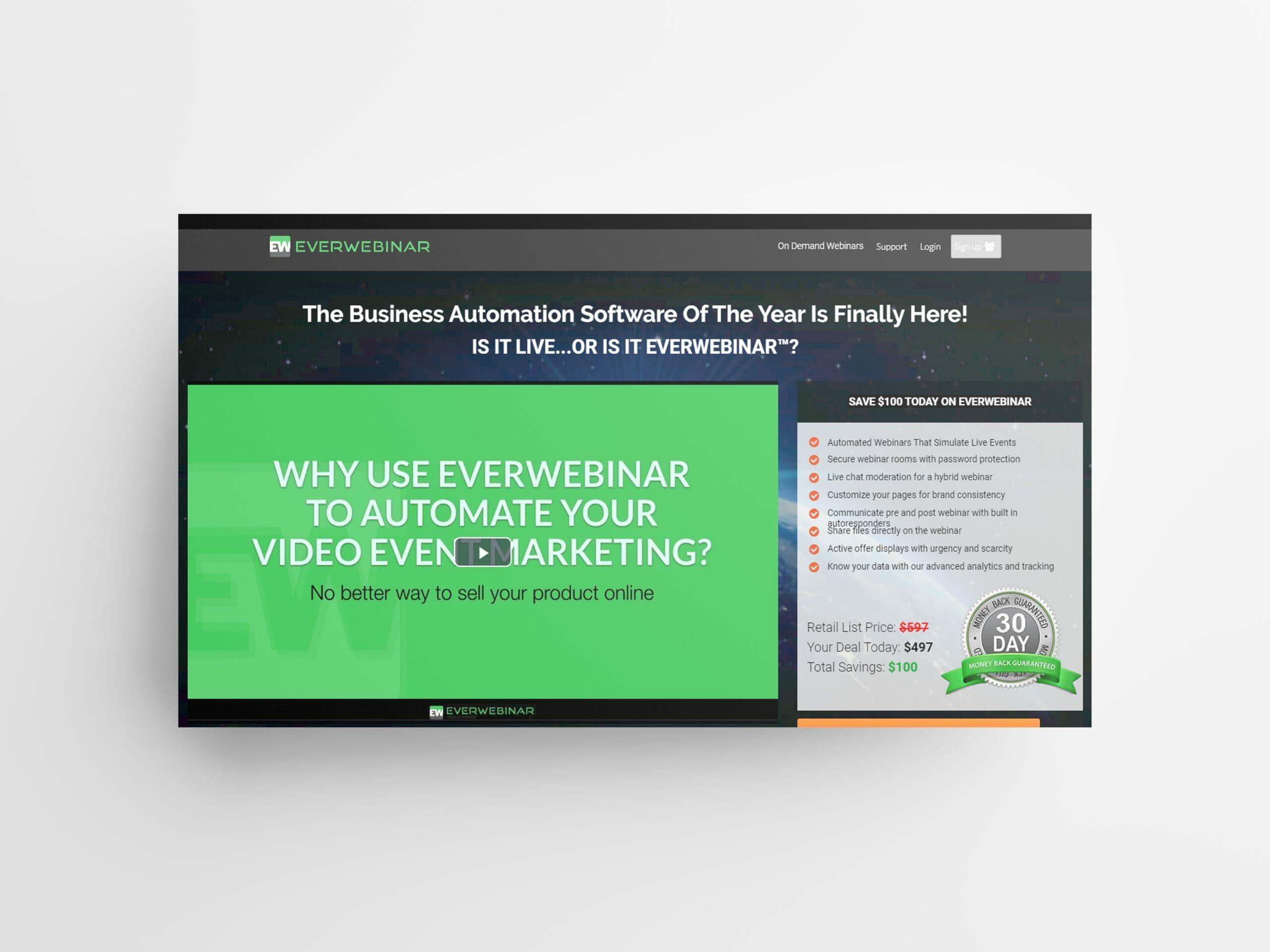 everwebiner for Webinars