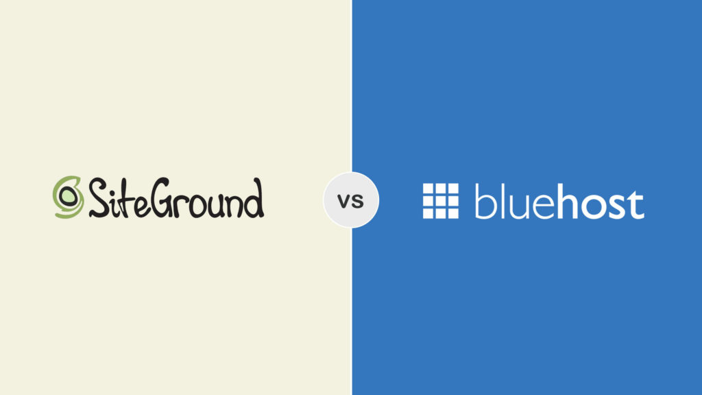 Bluehost vs Siteground Screenshots