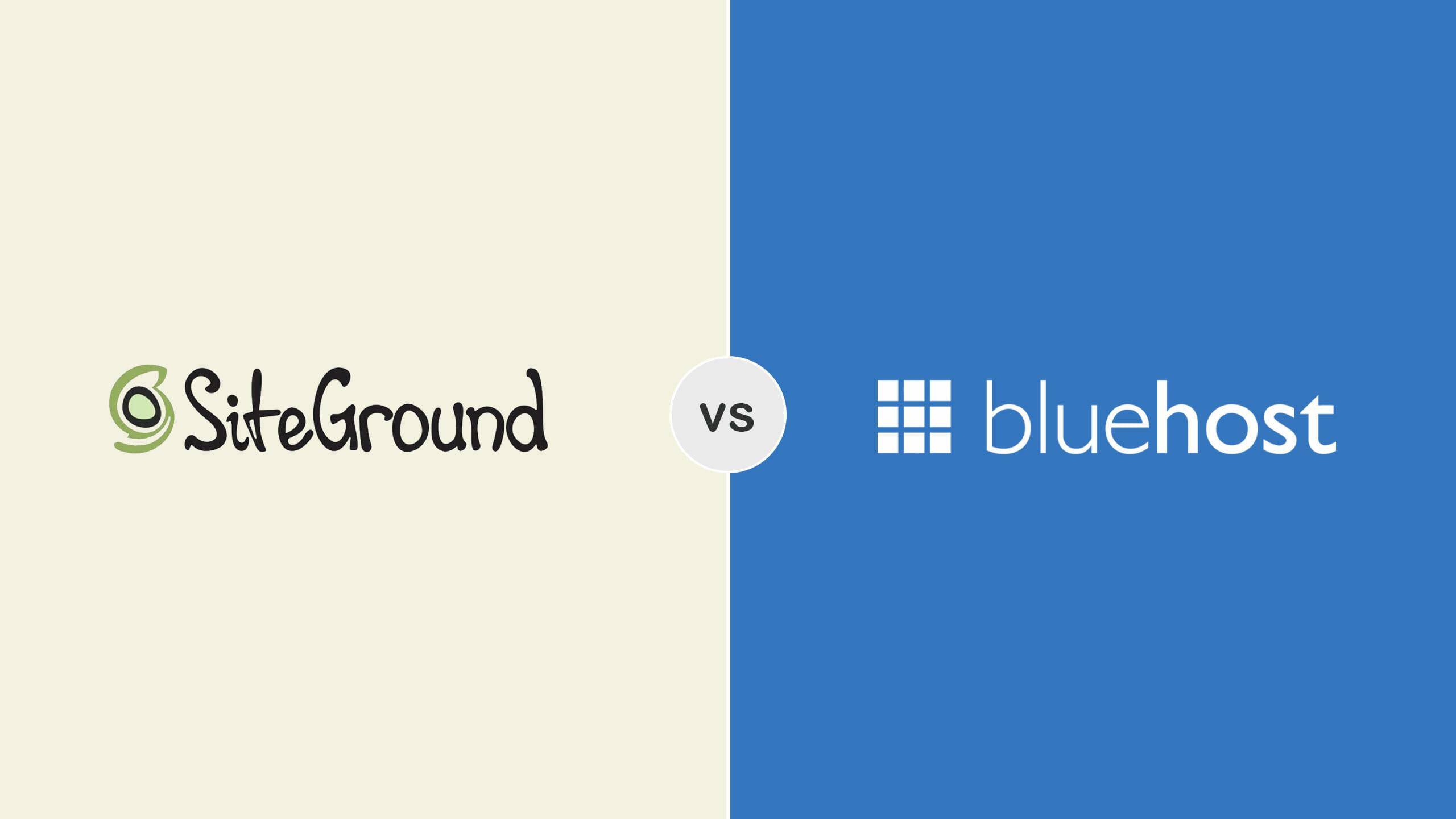 Bluehost vs Siteground Screenshots