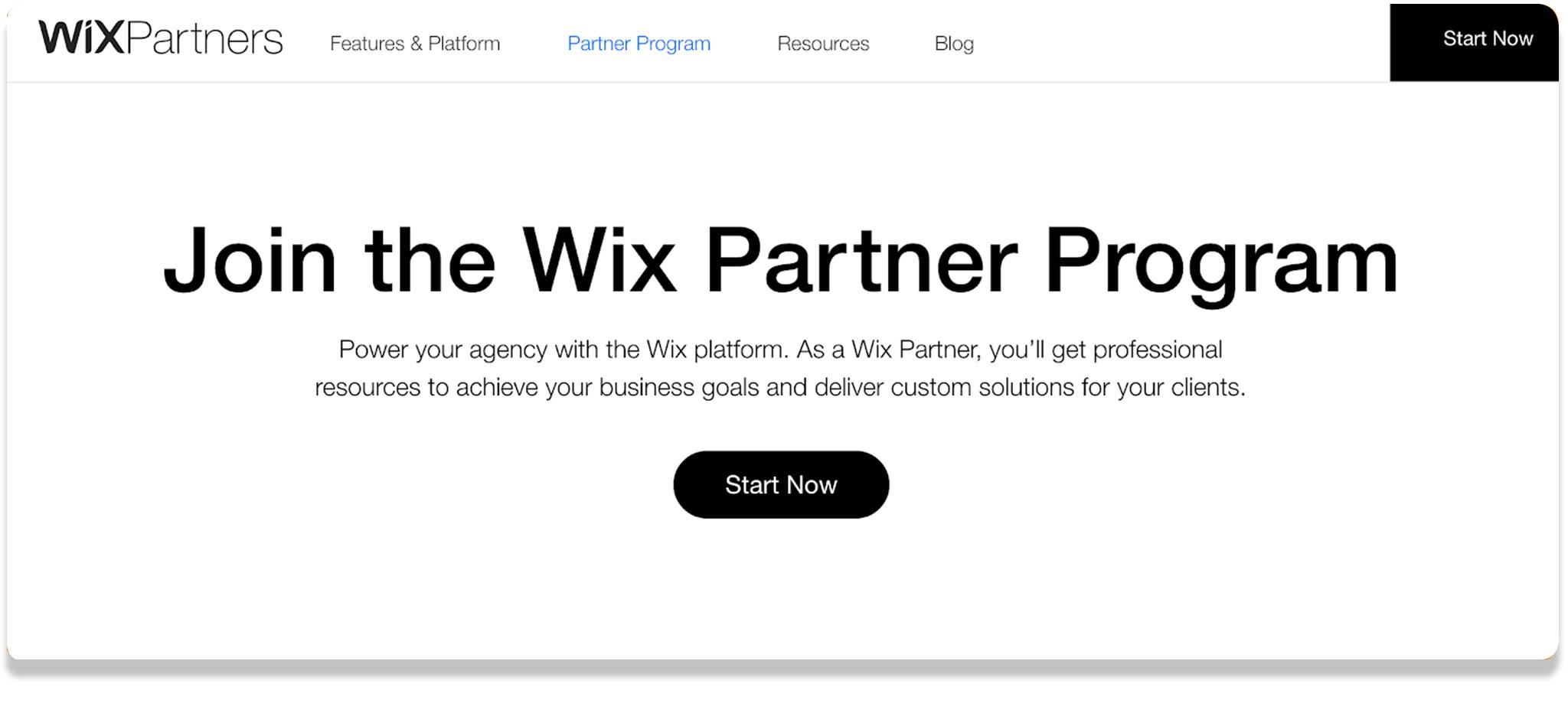 Wix affilaite Program