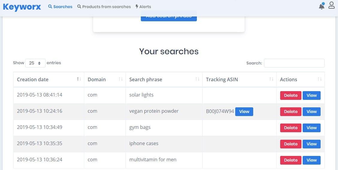 keyworx-searches