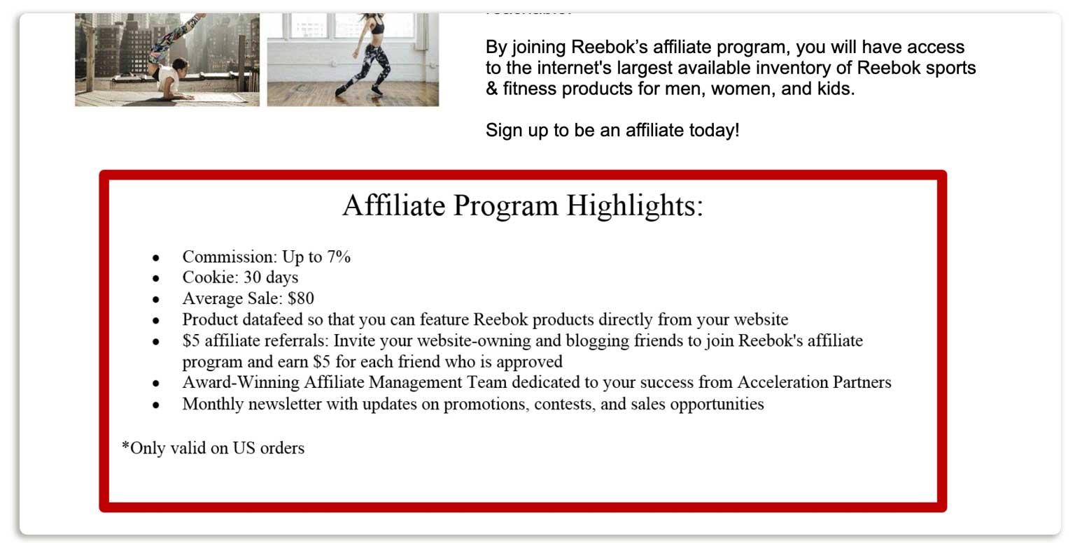 Rebook affiliate  program