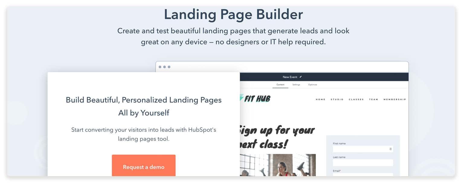 hubspot builder landing