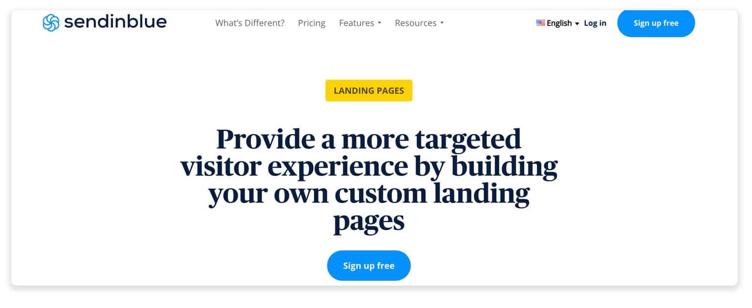 Sendblue page builder