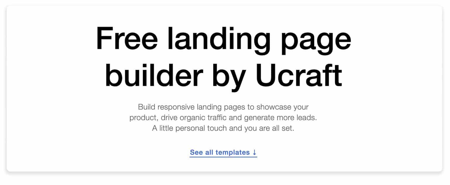 Ucraft Builder
