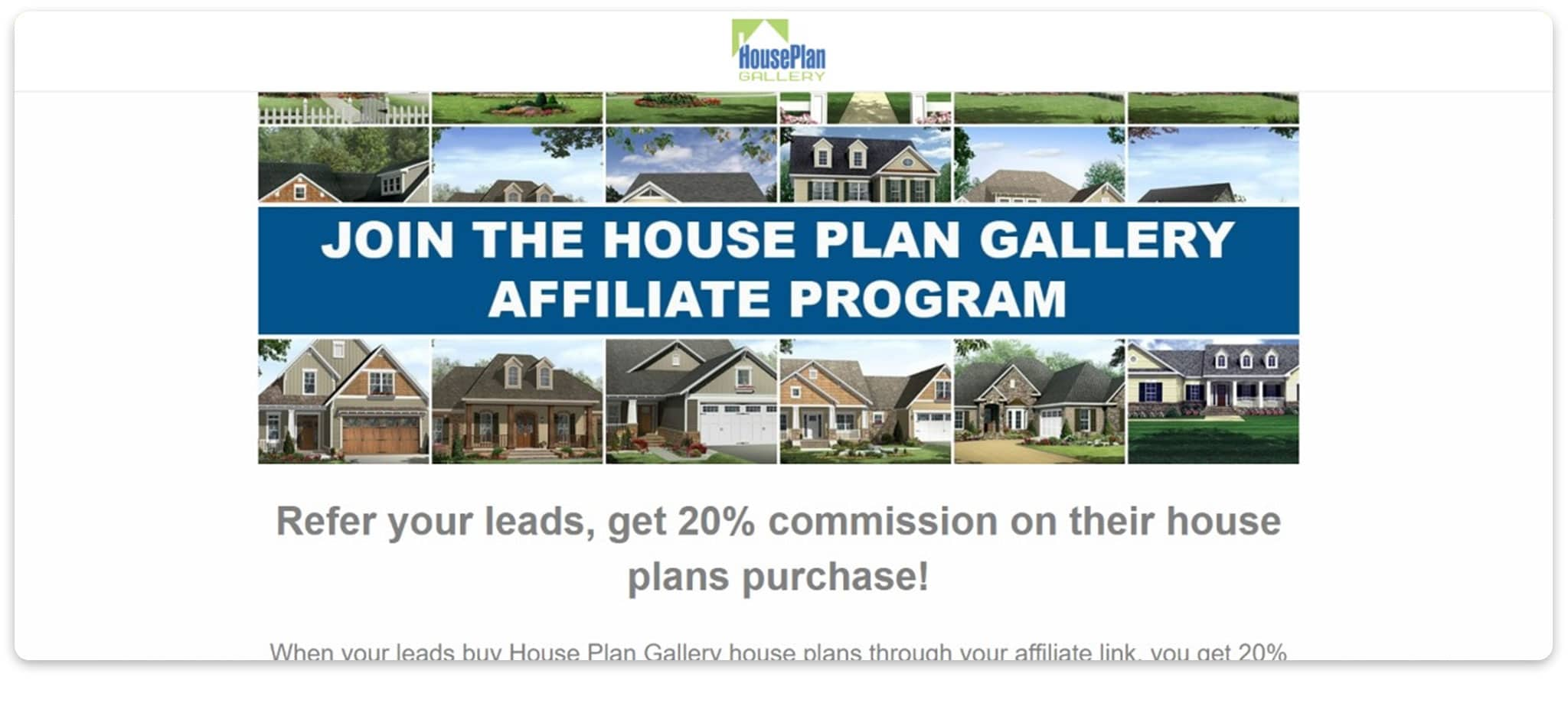 House Plan Gallery affiliate