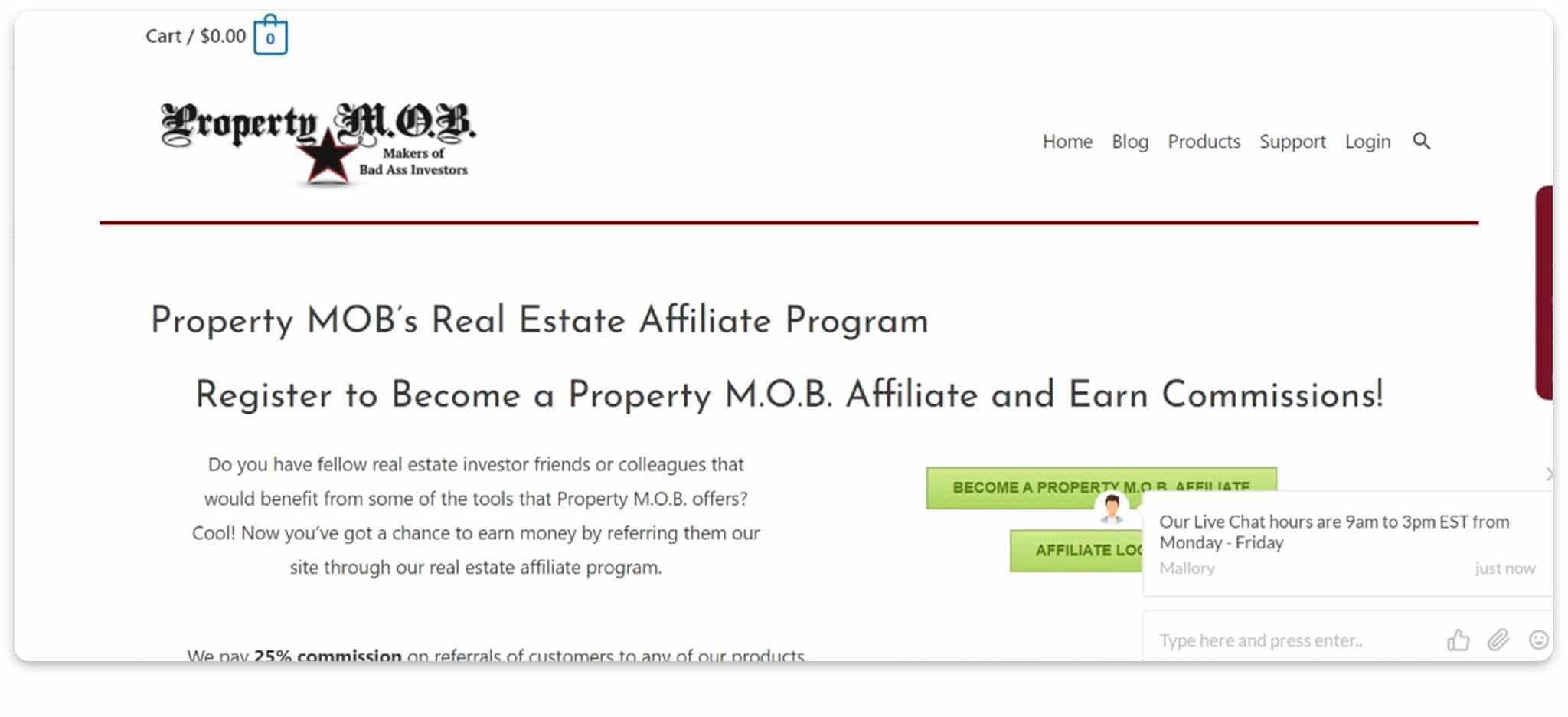 Property M.O.B affiliate